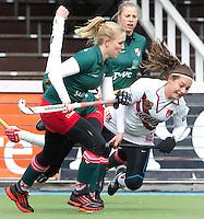 AMSTELVEEN - HOCKEY -  Kiki Collot d'Escury van A'dam  tijdens de hoofdklasse hockeywedstrijd tussen de vrouwen van Amsterdam en MOP (2-0). FOTO KOEN SUYK