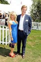 ROB HERSOV and DR KATIE JAMES at the Cartier International Polo at Guards Polo Club, Windsor Great Park on 27th July 2008.<br /> <br /> NON EXCLUSIVE - WORLD RIGHTS