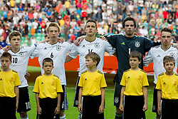 Maximilian Meyer of Germany, Nico Brandenburger of Germany, Marc Oliver Kempf of Germany, Oliver Schnitzler of Germany and Pascal Itter of Germany during the UEFA European Under-17 Championship Group A match between Germany and France on May 10, 2012 in SRC Stozice, Ljubljana, Slovenia. (Photo by Vid Ponikvar / Sportida.com)