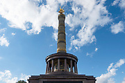 A view of The statue of Victoria on top of the Victory Column (Siegessäule) in Berlin, Germany, October 02, 2016.
