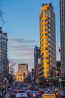 NEW YORK CITY- MARCH 25, 2018 : Tribeca streets one of the main Manhattan Landmarks