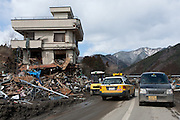 Emergency services begin recovery operations after the tsunami that struck the north east coast of Japan on March 11th in Otsuchi, Iwate, Japan. March 17th 2011