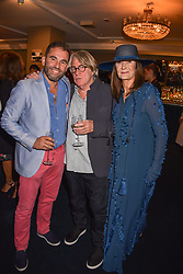 Left to right, Spyros Poulis, Frank Cohen and Cherryl Cohen at the third annual Fortnum's x Frank exhibition at Fortnum & Mason, 181 Piccadilly, London, UK on September 12, 2018.<br /> 12 September 2018.