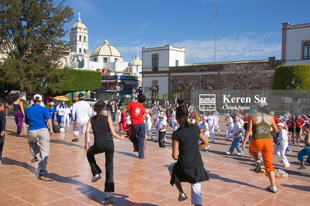 People dancing in the square, Zitacuaro, Mexico