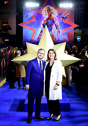 Executive Producers Jonathan Schwartz and Victoria Alonso attending the Captain Marvel European Premiere held at the Curzon Mayfair, London. Picture date: Wednesday February 27, 2019. Photo credit should read: Ian West/PA Wire
