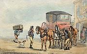 Postboys and Posthorses at the White Hart Inn 1787 Thomas Rowlandson (British, 1756-1827)