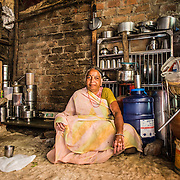 CAPTION: The RO watercan now finds a permanent place in Bhagwant Bai's house. LOCATION: Rahul Gandhi Nagar, Indore, Madhya Pradesh, India. INDIVIDUAL(S) PHOTOGRAPHED: Bhagwant Bai.