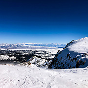 The summit of Mammoth Mountain is 11,053 feet.