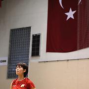 Vakifbank's Saori Kimura during their Turkish Woman Volleyball friendly match Fenerbahce between  Vakifbank at Haldun Alagas Arena in Istanbul, Turkey on 05 October 2012. Photo by Aykut AKICI/TURKPIX
