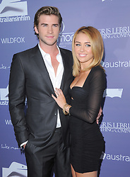 Liam Hemsworth and Miley Cyrus attending the Australians in Film 8th Annual Breakthrough Awards held at The Hotel Intercontinental in Century City, Los Angesles, CA, USA on June 27, 2012. Photo by Debbie VanStory/Hollywood Press Agency/ABACAPRESS.COM