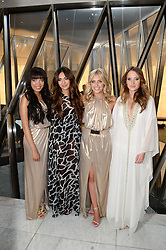 Left to right, DIONNE BROMFIELD, ZARA MARTIN, MOLLIE KING and ROSIE FORTESCUE at the launch of the Odabash Macdonald Resort 2014 swimwear collection at ME Hotel, London on 25th June 2013.