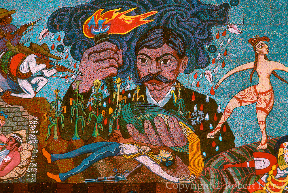 MEXICO, MEXICO CITY, MURAL Rivera's mural of Emiliano Zapata
