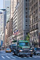 construction truck in New york City in October 2008