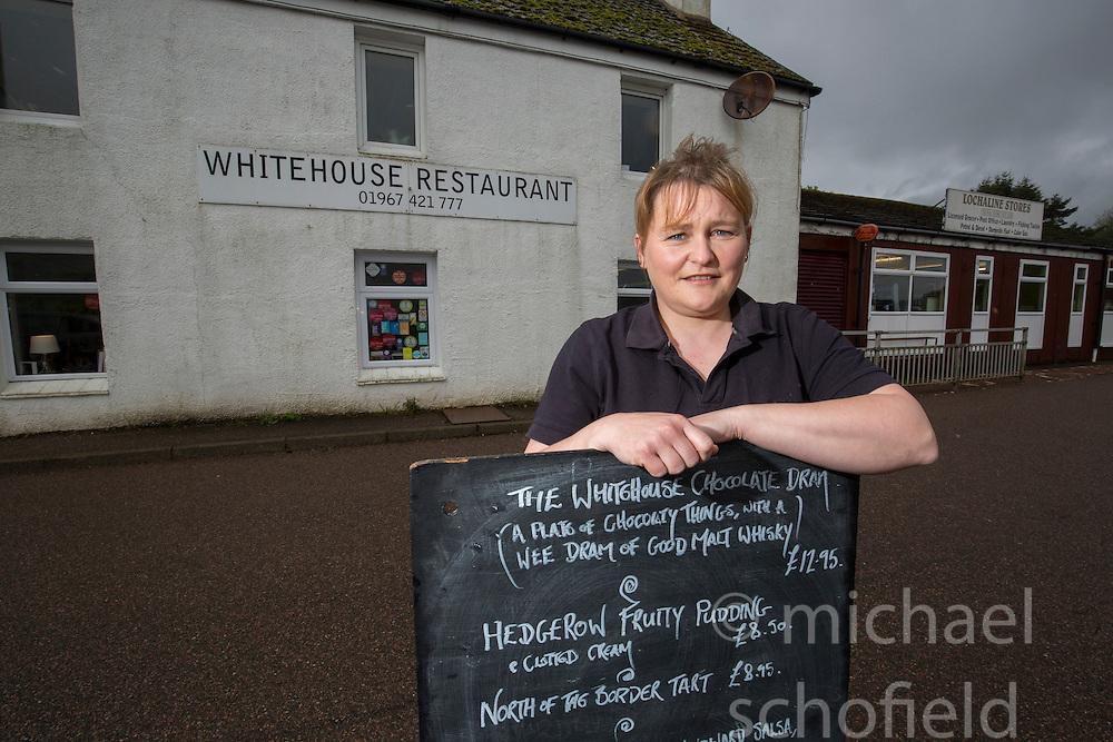 Sarah Jones in the Whitehouse Restaurant.. Lochaline Retained Fire Crew jobs feature.
