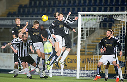 Falkirk's Will Vaulks scoring their second goal. <br /> Falkirk 4 v 1 Fraserburgh, Scottish Cup third round, played 28/11/2015 at The Falkirk Stadium.