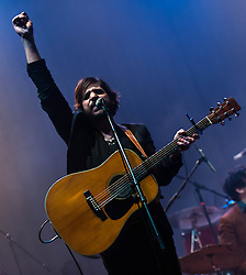 © Licensed to London News Pictures. 11/03/2013. London, UK.   Langhorne Slim performing live at O2 Brixton Academy, supporting headliner The Lumineers.   Langhorne Slim is an American singer-songwriter, (born Sean Scolnick on August 20, 1980 in Langhorne, Pennsylvania).  Photo credit : Richard Isaac/LNP