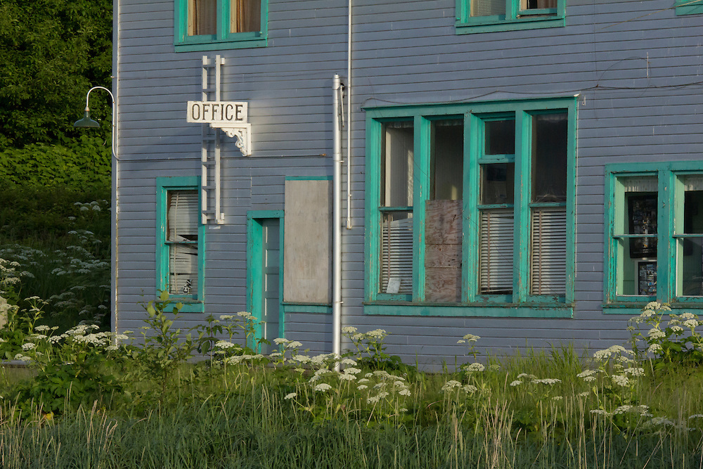 Alaska, southeast, Craig; the old administration building from the salmon cannery in old Craig.