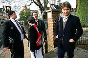 (from left to Right) The squatters' lawyer, Kitty, 24, from Trinidad, Josh, 26, from North London, and George, 26, from England, are cheering outside an East Finchley Court after the judge postponed the eviction order because the owners did not present the right papers needed on the day, on Thursday, Oct. 11, 2007, in East Finchley, London, England. The squatters have now gained an additional two weeks' time to find a new place where to move in. The 22-room mansion was last sold for UK£ 3.9M in 2002 and is now awaiting planning permissions to be demolished. Two new houses will soon be taking its place. Million Dollar Squatters is a documentary project in the lives of a peculiar group of squatters residing in three multi-million mansions in one of the classiest residential neighbourhoods of London, Hampstead Garden. The squatters' enthusiasm, their constant efforts to look after what has become their home, their ingenuity and adventurous spirit have all inspired me throughout the days and nights spent at their side. Between the fantasy world of exclusive Britain and the reality of squatting in London, I have been a witness to their unique story. While more than 100.000 properties in London still lay empty to this day, squatting provides a valid, and lawful alternative to paying Europe's most expensive rent prices, as well as offering the challenge of an adventurous lifestyle in the capital.