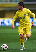 VILLAREAL, SPAIN - FEBRUARY 4: Joan Capdevila of Villarreal in action during the La Liga match between Villarreal CF and Levante UD at El Madrigal Stadium in Villarreal on Fabruary 4 2011. Levante won 0-1. (Photo by Xaume Olleros/SSP / DPPI)