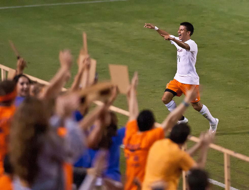 9/23/11 7:45:32 PM --- SOCCER SHOOTER ACADEMY 008 --- : CSF Fullerton midfielder Ritchie Gonzalez (11) during a non-conference men's soccer game between the University of Denver Pioneers and Cal State Fullerton Titans at Titan Stadium in Fullerton, California. Photo by David Bernal, Sports Shooter Academy