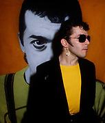 Ian Dury backstage London 1980