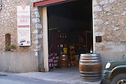 Domaine Bertrand-Berge In Paziols. Fitou. Languedoc. The winery building. France. Europe.