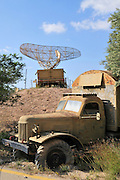 Israel, Hazirim, near Beer Sheva, Israeli Air Force museum. The national centre for Israel's aviation heritage. Anti-aircraft Mobile Radar system