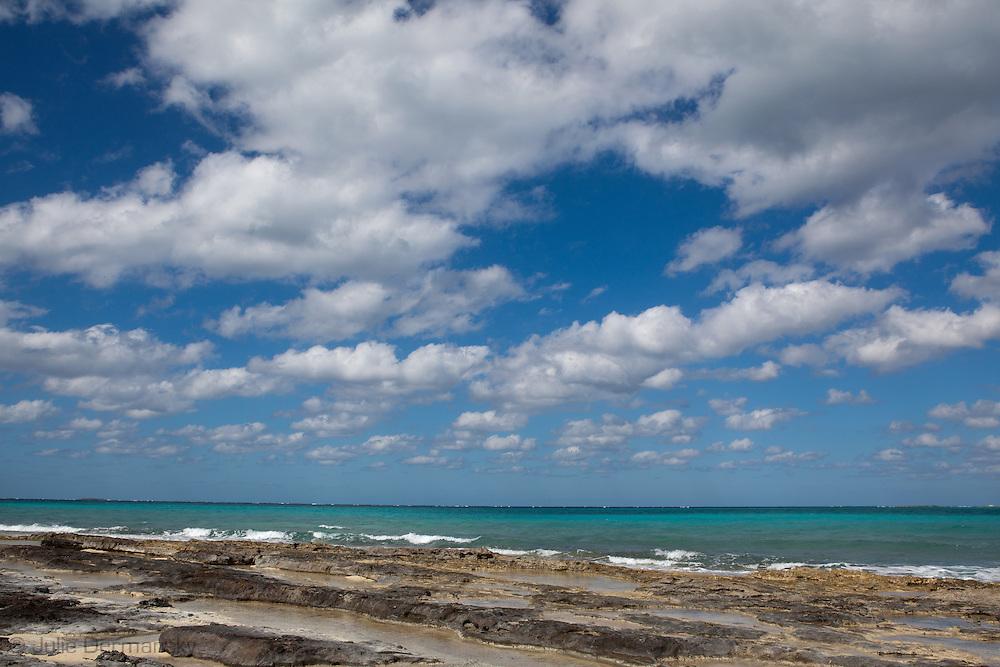 Clouds over the Atlantic Ocean in Nassau, Bahamas.