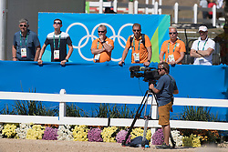 Smolders Harrie, NED, Emerald<br /> owner of the horse of Jerome with arms in the air<br /> Olympic Games Rio 2016<br /> © Hippo Foto - Dirk Caremans<br /> 14/08/16