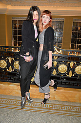 Left to right, TATI COTLIAR and PAULA GOLDSTEIN at the Lancôme BAFTA Dinner held at The Cafe Royal, Regent's Street, London on 6th February 2015.