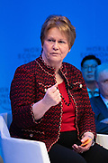 Vicki Hollub, President and Chief Executive Officer, Occidental, USA, speaking in the Stakeholder dialogue; Shaping the Future of Energy and Materials session at the World Economic Forum Annual Meeting 2020 in Davos-Klosters, Switzerland, 22 January. Congress Centre - Aspen 1 Room. Copyright by World Economic Forum/ Greg Beadle