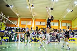 Iza Mlakar of Nova KBM Branik during volleyball match between Nova KBM Branik Maribor and OK Luka Koper in Final of Women Slovenian Cup 2014/15, on January 18, 2015 in Sempeter v Savinjski dolini, Slovenia. Photo by Vid Ponikvar / Sportida