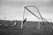 13/10/1963<br /> 10/13/1963<br /> Ireland v Austria, European Championship match at Dalymount Park, Dublin. Ireland won the game 3-2. Austrian keeper Gernot Fraydl making a fine save.