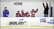 Newburgh, New York - The Devils play the Ranger in a youth hockey game at Ice Time Sports Complex in Newburgh.