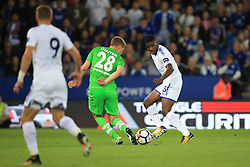 4 August 2017 -  Pre-Season Friendly - Leicester City v Borussia Monchengladbach - Kelechi Iheanacho sets up Jamie Vardy of Leicester City for his 2nd goal  - Photo: Marc Atkins / Offside.
