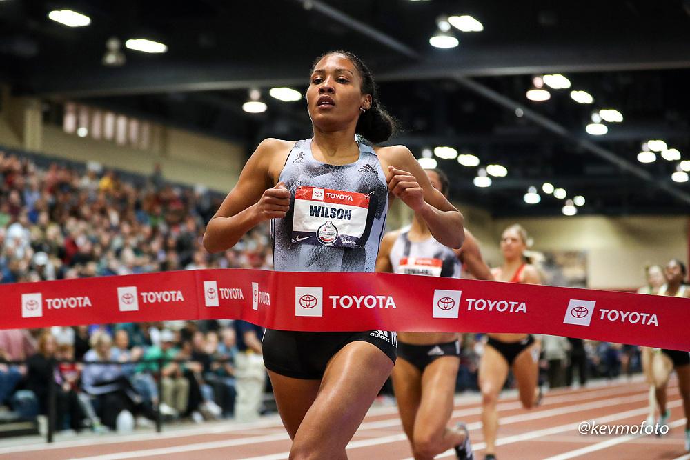 2020 USATF Indoor Championship<br /> Albuquerque, NM 2020-02-15<br /> photo credit: © 2020 Kevin Morris<br /> women 800m final, adidas