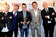 Rembrandt Awards - 2014 in het American Hotel, Amsterdam.<br /> <br /> Op de foto:  Blof met Niels Littooij (Nielson) - Rembrandt Beste filmhitsong
