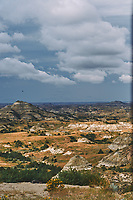Painted Canyon Panorama. Theodore Roosevelt National Park. Composite of 4 of 9 images taken with a Nikon D3 camera and 85 mm f/2.8 PC-E lens (ISO 200, 85 mm, f/16, 1/40 sec). Raw images processed with Capture One Pro (BM-02 Teton Style). Composite generated with  AutoPano Giga Pro.