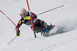 21.12.2010, Stade Emile Allais, Courchevel, FRA, FIS World Cup Ski Alpin, Ladies, Slalom, im Bild Ana Jelusic (CRO) attacks a control gate whilst competing in the FIS Alpine skiing World Cup ladies slalom race in Courchevel 1850, France. EXPA Pictures © 2010, PhotoCredit: EXPA/ M. Gunn