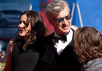 Sophie Semin and director Wim Wenders at the premiere of the film Les Beaux Jours d'Aranjuez (The Beautiful Days of Aranjuez) at the 73rd Venice Film Festival, Sala Grande on Thursday September 1st 2016, Venice Lido, Italy.
