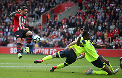 Southampton's Danny Ings (left) during the Premier League match at St Mary's Stadium, Southampton.