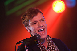 Max McElligott, of Wolf Gang, plays in the Rock n Roll tent, Rockness, Saturday, 11th June 2011..RockNess 2011, the annual music festival which takes place in Scotland at Clune Farm, Dores, on the banks of Loch Ness near Inverness..Pic ©2011 Michael Schofield. All Rights Reserved..