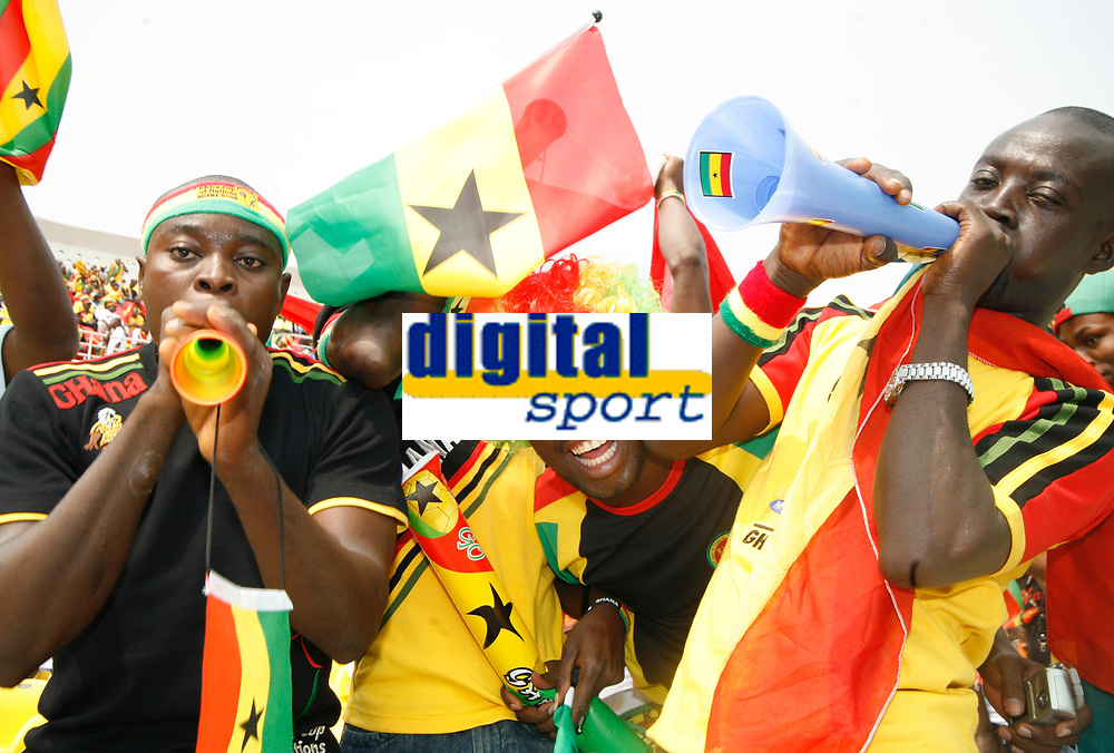Photo: Steve Bond/Richard Lane Photography.<br /> Ghana v Guinea. Africa Cup of Nations. 20/01/2008. Ghana fans