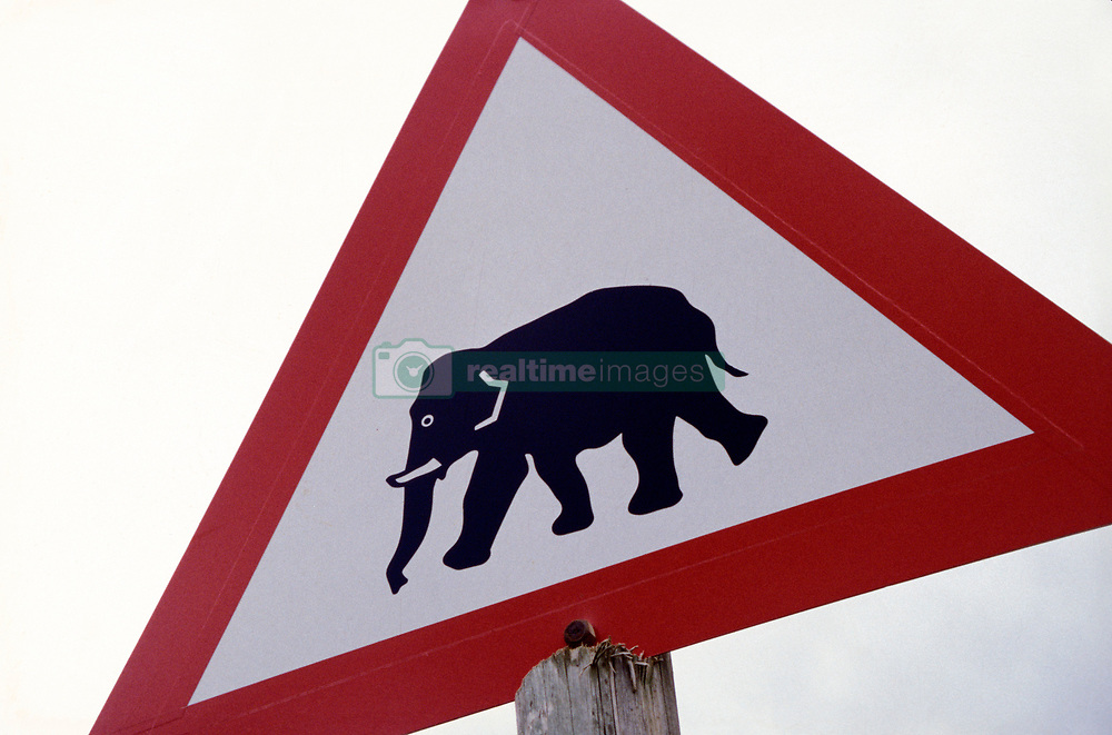 Elephant sign in Addo National Park (Credit Image: © Axiom/ZUMApress.com)