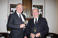 Adrian Yeates MD Volvo Car Ireland , James Horan Commodore Royal Irish Yacht Club  at the launch of 18th Volvo 2016 Round Ireland Yacht Race which was held in the Royal Irish Yacht Club.<br />Photo Ann Egan