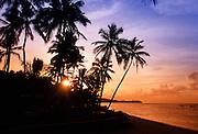 Sunset, Malolo Lailai, Mamanuca Islands, Fiji, Model Released