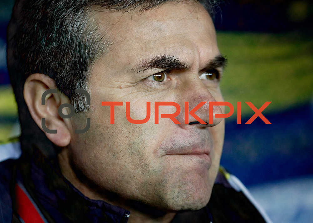 Fenerbahce's coach Aykut Kocaman during their Turkish superleague soccer match Fenerbahce between Gaziantepspor at the Sukru Saracaoglu stadium in Istanbul Turkey on Monday09 January 2011. Photo by TURKPIX