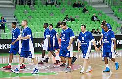 Players of Cantu during basketball match between KK Union Olimpija and Mapooro Cantu (ITA) in 6th Round of Regular season of Euroleague 2012/13 on November 15, 2012 in Arena Stozice, Ljubljana, Slovenia. (Photo By Vid Ponikvar / Sportida)