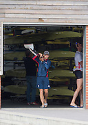 Caversham, Nr Reading, Berkshire.<br /> <br /> Phelan HILL, carrying Olympic Rowing Team Announcement morning training before the Press conference at the RRM. Henley.<br /> <br /> Thursday  09.06.2016<br /> <br /> [Mandatory Credit: Peter SPURRIER/Intersport Images] 09.06.2016,