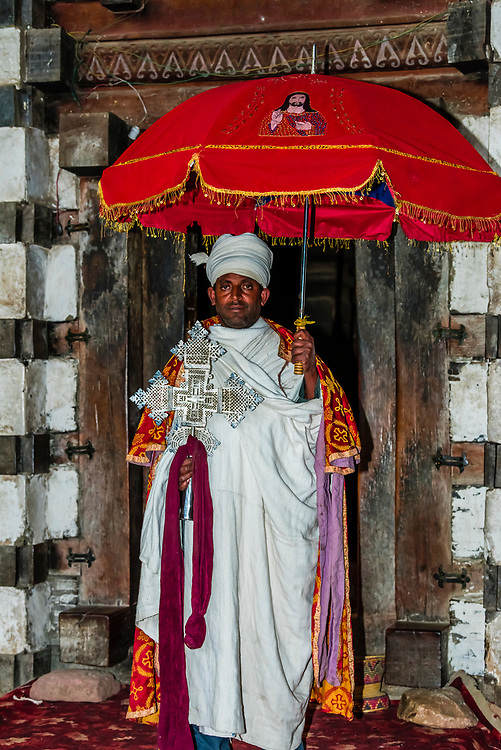 Yemrehana Krestos Church is an 11th / 12th-century Ethiopian Orthodox church located in Amhara Region, northern Ethiopia. Built of stone and wood, it was erected in the architectural tradition of the ancient Kingdom of Aksum. Located 12 miles northeast from Lalibela, the church was built in a large northeast-facing cave on the west side of Mount Abuna Yosef.